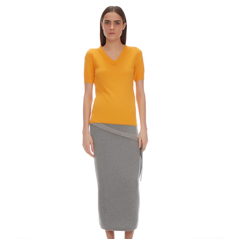 Lynn Silk cashmere V Neck - New York Look fashion retail style designer brands like Uma