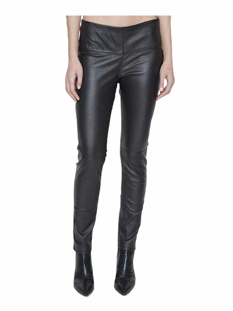 PAIGE HIGH-WAISTED NAPA LEATHER PANT - New York Look fashion retail style designer brands like Uma