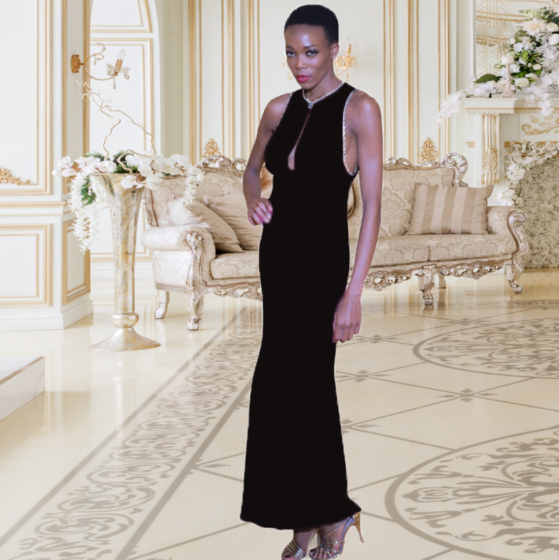 RAVEN MAXI GOWN - New York Look fashion retail style designer brands like Uma
