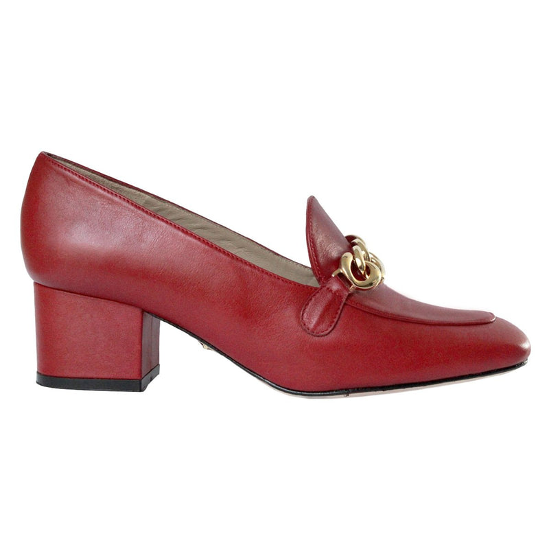 KALI 40 Leather - Regina Romero Women's Leather Heeled Loafer - New York Look fashion retail style designer brands like Uma