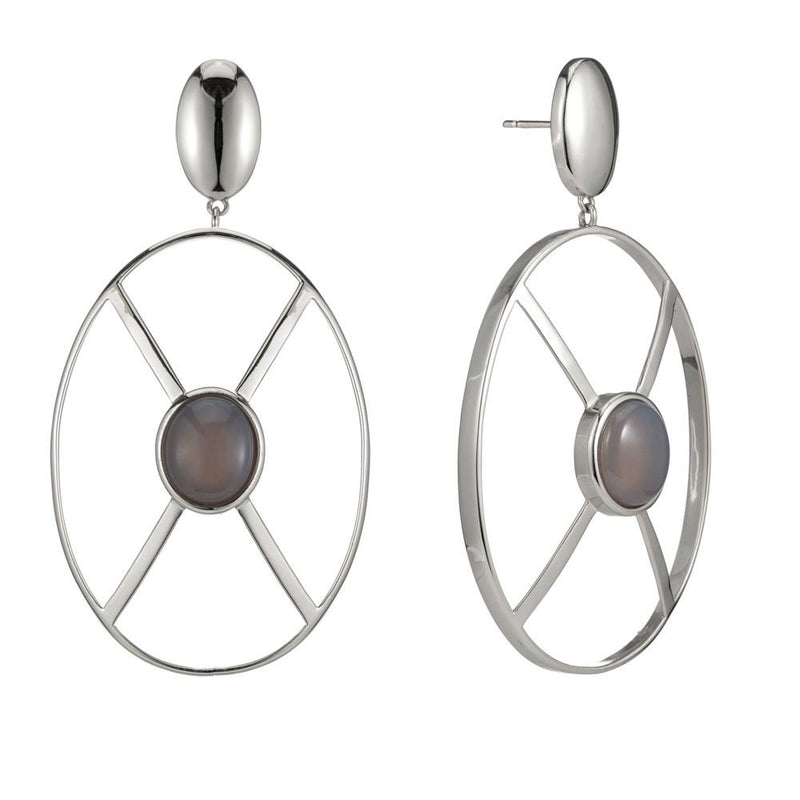 Shield Earring Wht Gold - New York Look fashion retail style designer brands like Uma