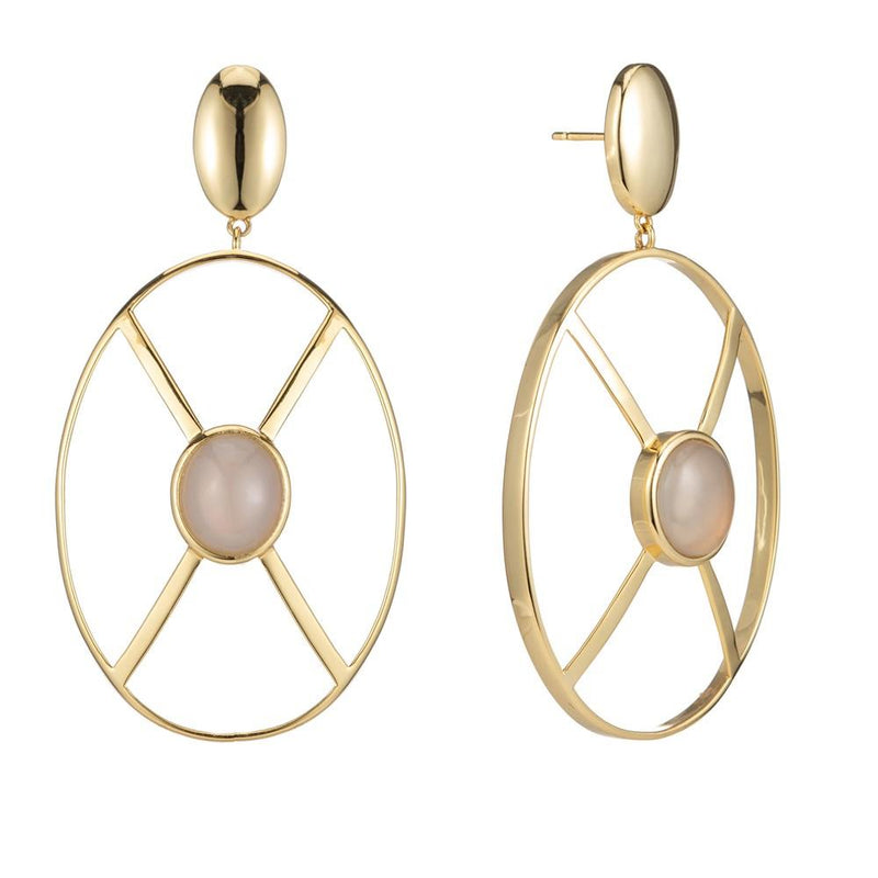Shield Earring Yellow Gold - New York Look fashion retail style designer brands like Uma