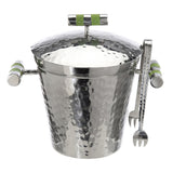 Shagreen Stainless Ice Bucket with Lid - New York Look