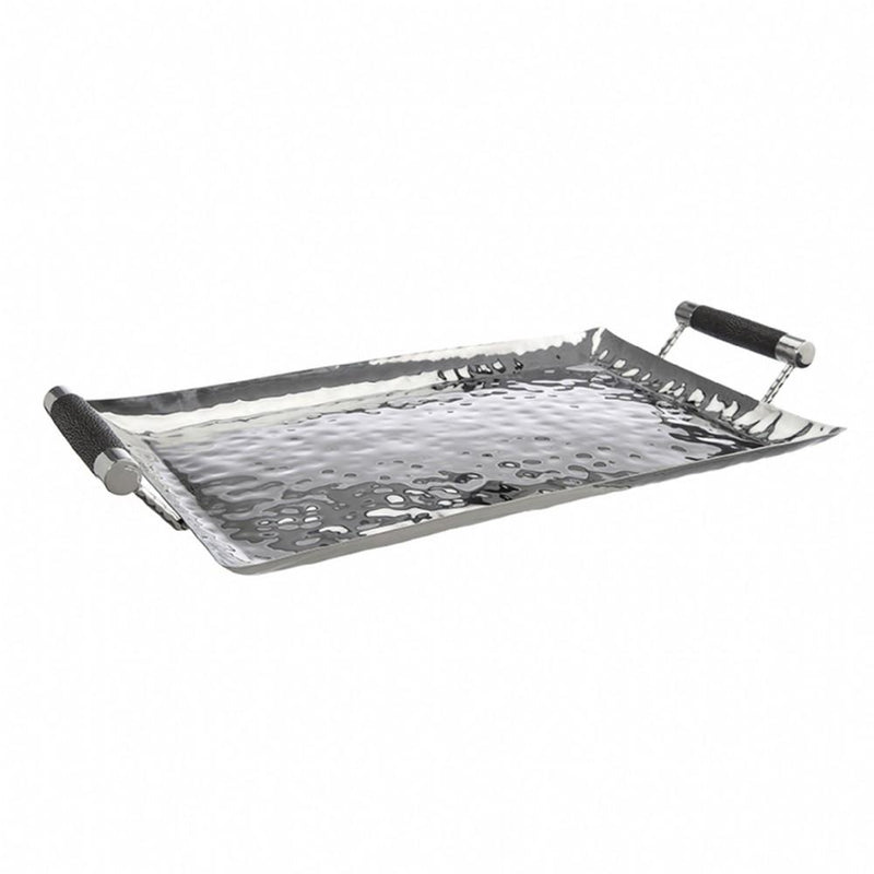 Hammered Stainless Steel Rectangle Tray 20x13 - New York Look fashion retail style designer brands like Uma