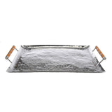 Hammered Stainless Steel Rectangle Tray 22x28 - New York Look fashion retail style designer brands like Uma