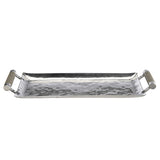 Hammered Stainless Steel Rectangle Tray 16X8 - New York Look fashion retail style designer brands like Uma