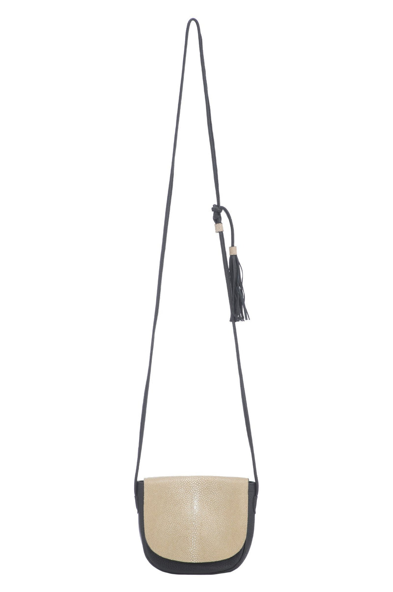 Renee Cross Body With Tassel-Black/ Putty - New York Look fashion retail style designer brands like Uma