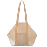 Baja II- Beige Hair on Hide + Shagreen Tote - New York Look fashion retail style designer brands like Uma