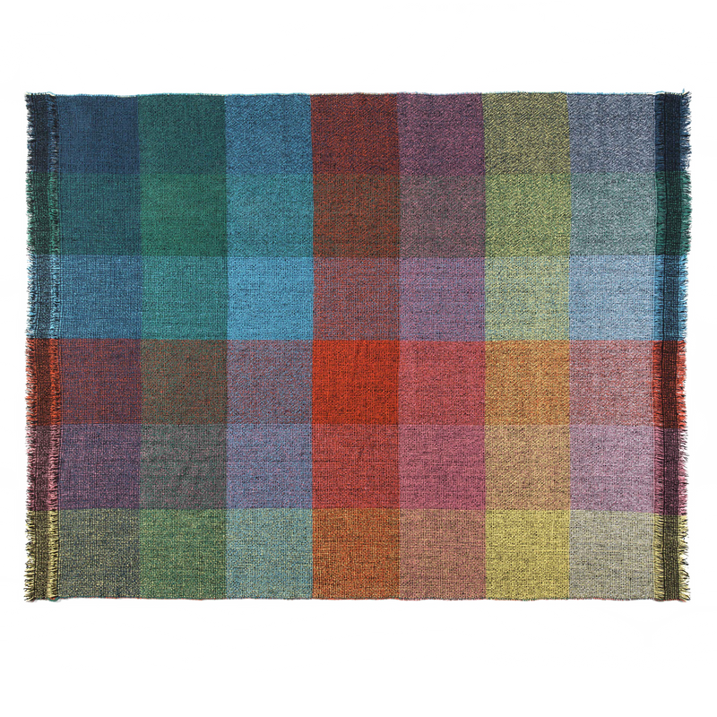 Integrate Handwoven Dark Squares Throw