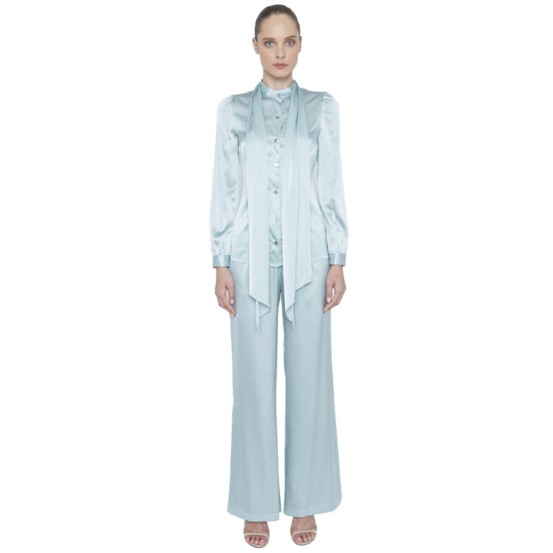 Fabiola Button Down Silk Blouse - New York Look fashion retail style designer brands like Uma