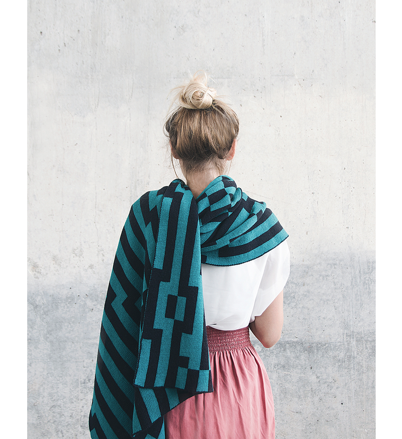 Bitmap Zoom In Mint Shawl