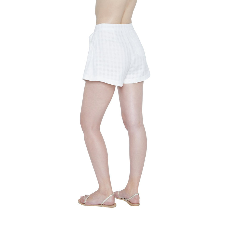 Dominique Linen Short - New York Look fashion retail style designer brands like Uma