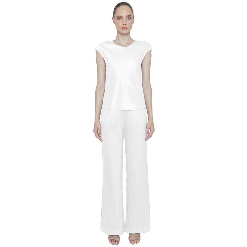 Caroline Silk Tee - New York Look fashion retail style designer brands like Uma