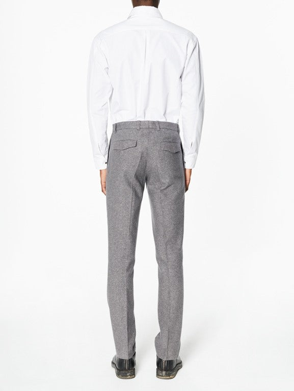 Pierre Flecked Grey Flannel - New York Look fashion retail style designer brands like Uma