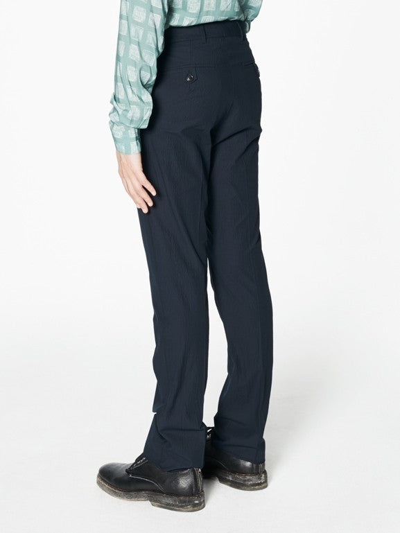 Pierre Navy Seersucker Cotton - New York Look fashion retail style designer brands like Uma