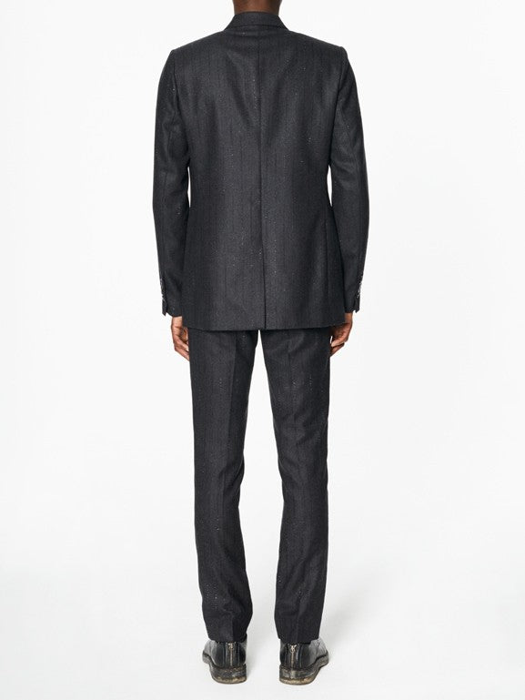 Victor Flecked Black Stripe Wool - New York Look fashion retail style designer brands like Uma