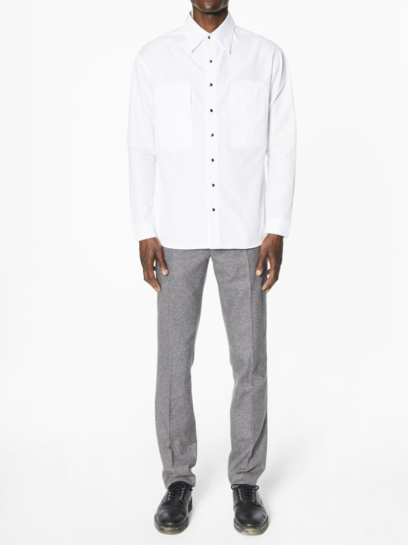 Chad White Ribbed Cotton - New York Look fashion retail style designer brands like Uma