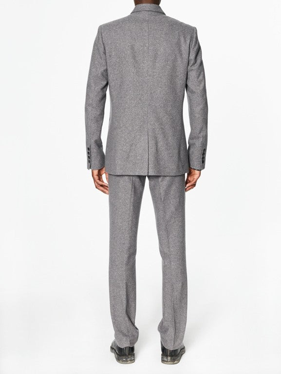 Victor Flecked Grey Cotton Silk - New York Look fashion retail style designer brands like Uma