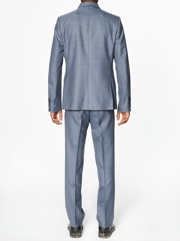 Victor Blue Grey Wool - New York Look fashion retail style designer brands like Uma