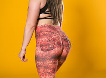 snakeskin print leggings, red snakeskin jeggings