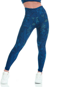 Cajubrasil Leggings Double Face Sleek - Blue