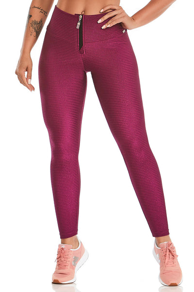 purple leggings with zipper