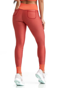 orange sexy leggings with pockets