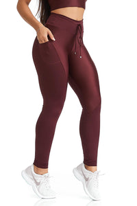 Cajubrasil NZ Up Burgundy Legging Pants-11673110