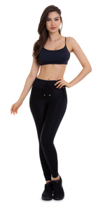 black supplex leggings