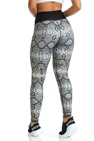 Cajubrasil Leggings Doppel Gesicht Phantasie (Reversible)