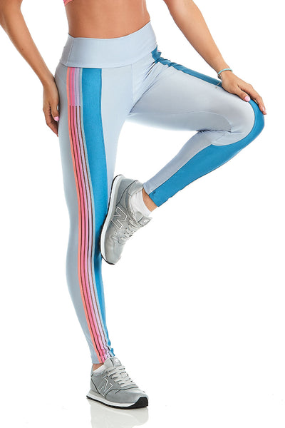 Cajubrasil Rainbow Legging  blue