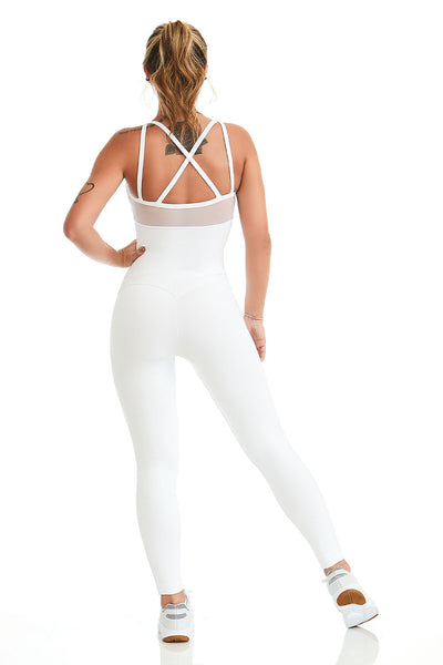 non see through white jumpsuit