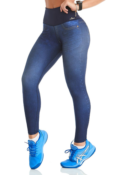 Cajubrasil Legging Double Face Infinity Jeans