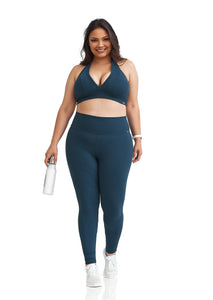 textured plus size sports bra