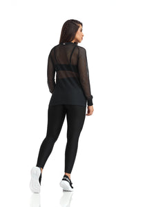 mesh long sleeve shirt
