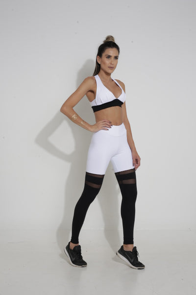 CANOAN SCRUNCH SOCK LEGGINGS - WHITE&BLACK - MYSPORTYSHOP