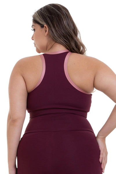 burgundy plus size clothing
