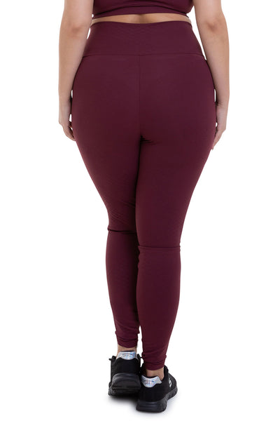 PLUS SIZE TEXTURED LEGGINGS