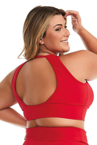 plus size yoga top, plus size sports bra