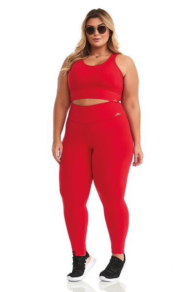 Cajubrasil Plus Size NZ Brave Legging Pants -Red, 8014200