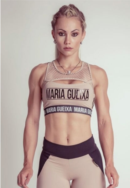 MARIA GUEIXA NETTED CUTOUT FITNESS TOP - MYSPORTYSHOP