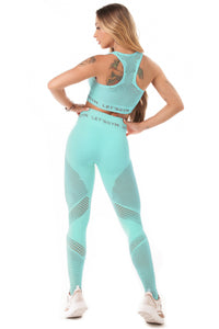 Let's Gym Seamless Candy Leggings - Turquoise