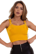 Garotafit Yellow Berlin Fluted Tank Top-BL132J