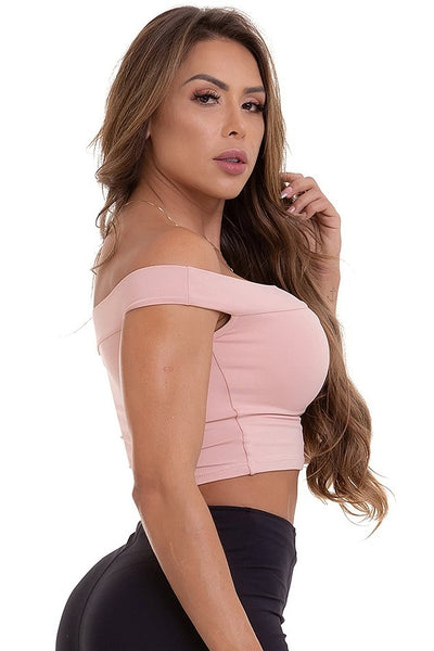 peach color keyhole crop top