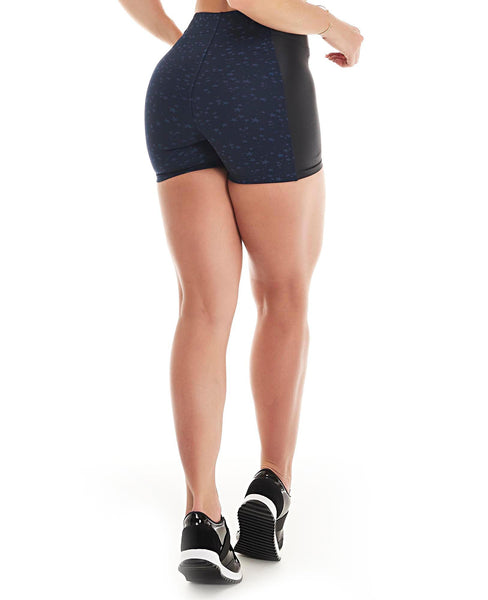 Let's Gym Hot Shorts Star - Navy Blue - S728