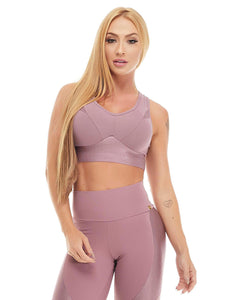 Let's Gym Top Canele Shine - Amethyst - T785