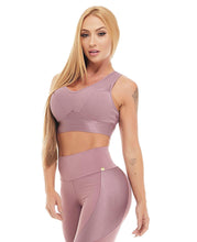 Let's Gym Top Canele Shine - Amethyst