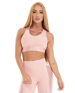 Let's Gym Top Canelle Shine Rosé
