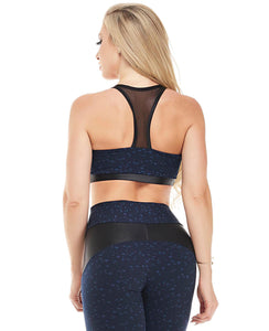 Let's Gym Top Star - Navy Blue - T827