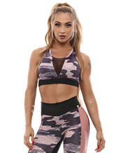 Let's Gym Top Camo Workout - T846